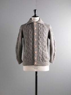 INVERALLAN | 3A CARDIGAN Heather Grey ハンドニットジャケット