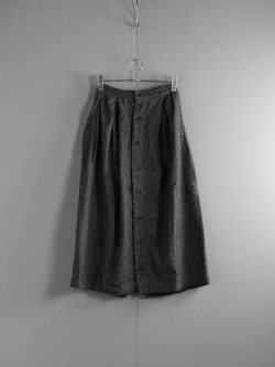 FWK by ENGINEERED GARMENTS | TUCK SKIRT – WOOL HOMESPUN Grey タックスカートの商品画像