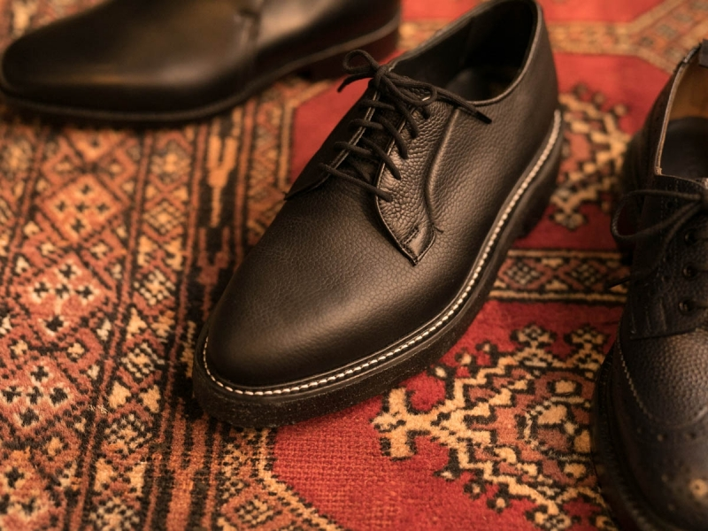 TRICKER'S ROBERT OLIVVIA GRAIN LEATHER DERBY SHOES