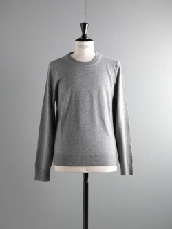 MAISON MARGIELA | WOOL SWEATER WITH ELBOW PATCHES Grey エルボーパッチウールクルーネックニットの商品画像