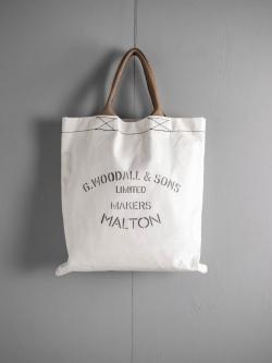 G.WOODALL&SONS | TOTE(2100) White マチなしトートバッグの商品画像