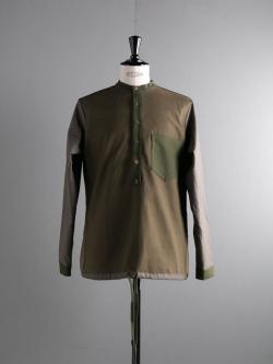 FRANK LEDER | VINTAGE FABRIC EDITION PULLOVER SHIRT 45M クレイジーパターンドロストプルオーバーシャツの商品画像