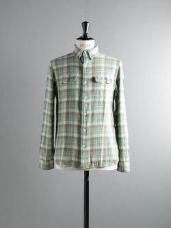 RRL | PLAID COTTON WORKSHIRT Cream コットンネルシャツの商品画像