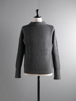 ANDERSEN-ANDERSEN | THE NAVY-CREW NECK Grey 5Gクルーネックニットの商品画像