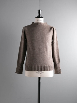 ANDERSEN-ANDERSEN | SEAMAN 7GG NATURAL COLOUR WOOL Natural Taupe 7Gボートネックニット シーマン