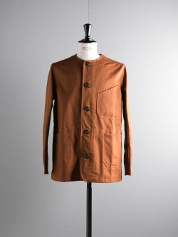 YARMO | RAILWAY JACKET BRISBANE MOSS CAVALRY TWILL Tan レイルウェイジャケットの商品画像
