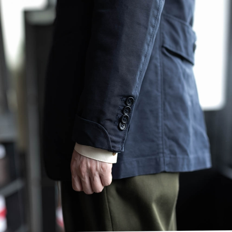 ガーメンツのgrim jacketのcotton double cloth