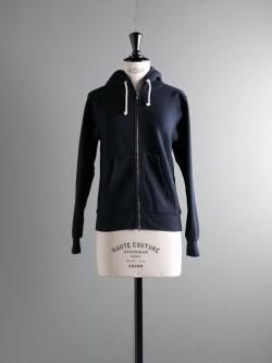 FilMelange | ASTOLEY GL Navy 空紡裏起毛スウェットパーカの商品画像