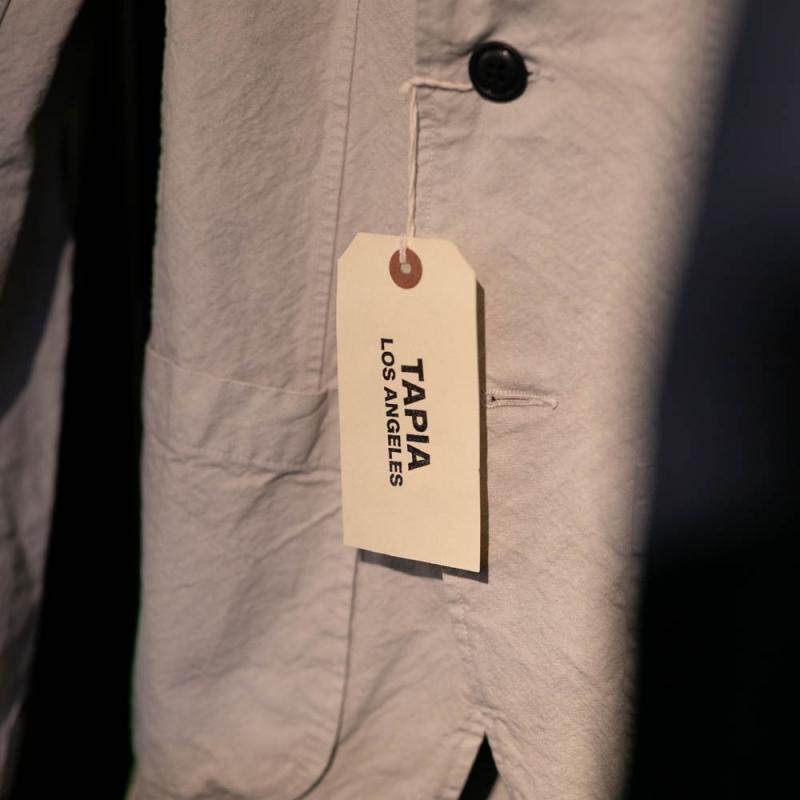 tapia los angelesのアーミーダックのガーメントダイジャケット