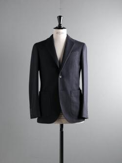 ARBRE | WOOL JERSEY JACKET Navy ウールジャージー3B段返りジャケットの商品画像