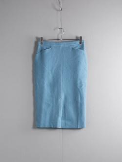 FilMelange | CASILDA Old Blue ラムウールミモレ丈スカート カシルダ