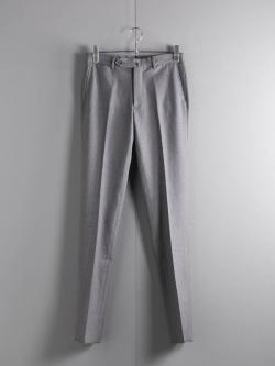 ARBRE | SLIM FIT DRESS PANT MIDDLE SAXONY M Gray ウールミドルサキソニードレスパンツの商品画像