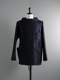 EG WORKADAY | SMOCK POPOVER - TRI BLEND WOOL Navy スモックポップオーバー