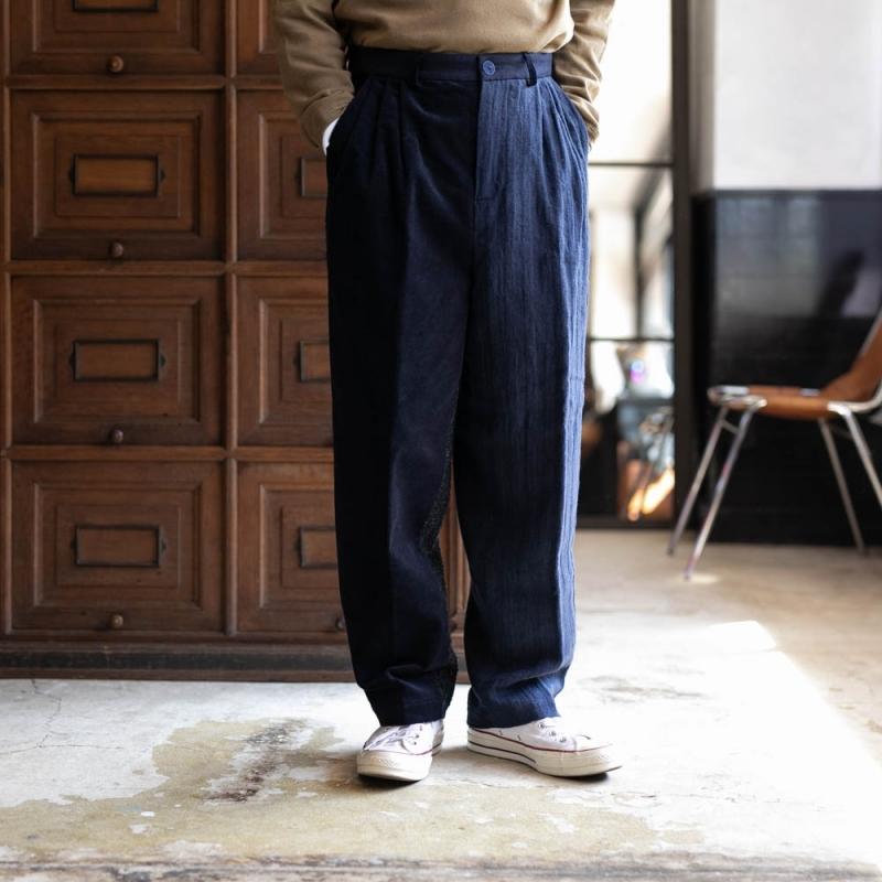 Frank LederのVintage Fabric Edition Trouserのnavy