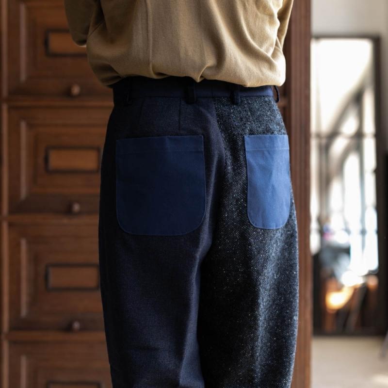 フランクリーダーのVintage Fabric Edition Trouserのネイビー