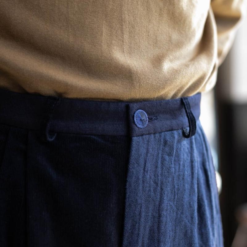 Frank Lederの2018awのVintage Fabric Edition Trouserのnavy