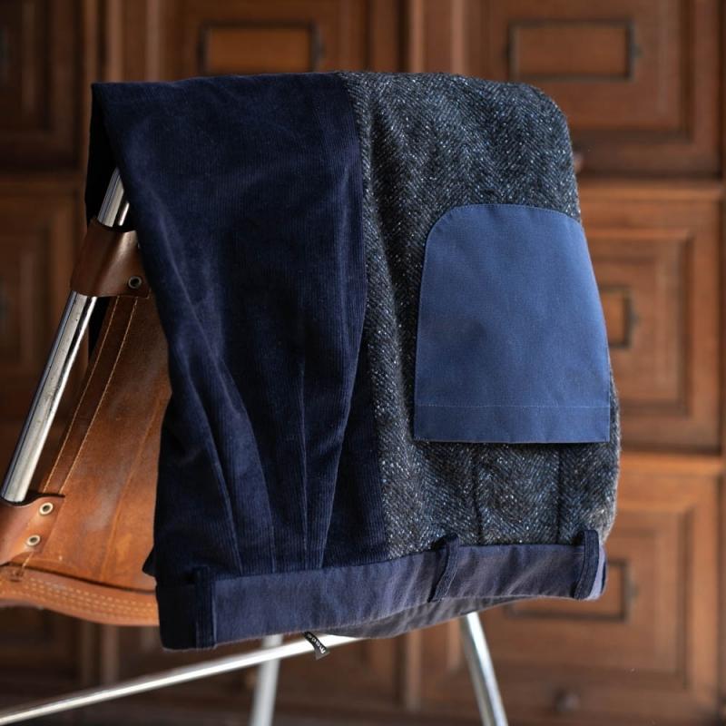 フランクリーダーの2018awのVintage Fabric Edition Trouserのnavy