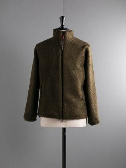 FARFIELD ORIGINAL | FELL JACKET Olive Fleck フリーススタンドカラージャケットの商品画像