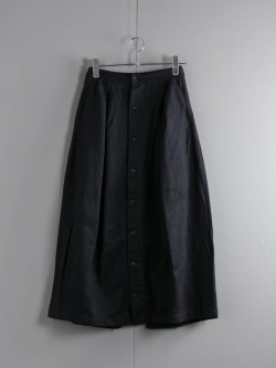FWK by ENGINEERED GARMENTS | TUCK SKIRT – WOOL COTTON FLANNEL Dk. Navy タックスカートの商品画像