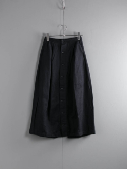 ENGINEERED GARMENTS × FWK by ENGINEERED GARMENTS | TUCK SKIRT – WOOL COTTON FLANNEL Dk. Navy タックスカートの商品画像