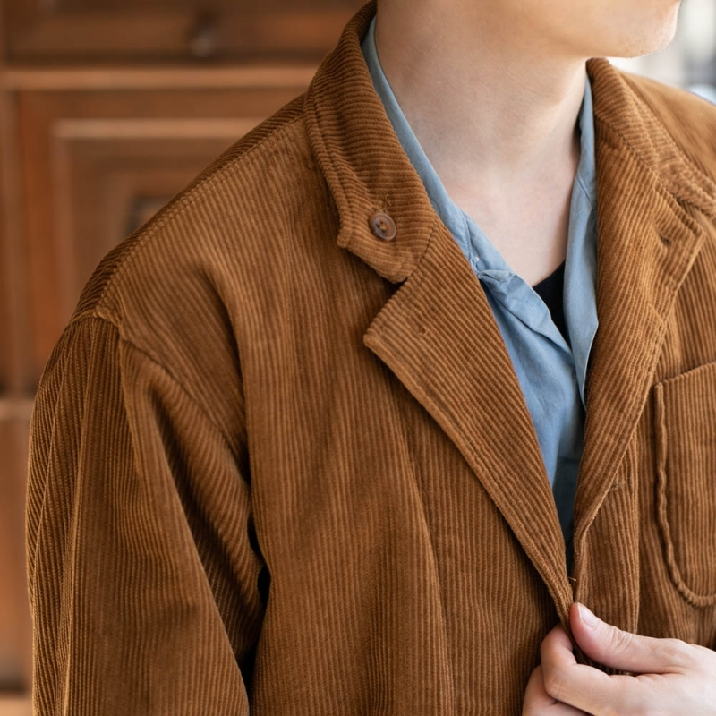ENGINEERED GARMENTSのLOITER JACKET – 8W CORDUROYのチェスナット