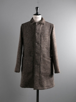 EG WORKADAY | SHOP COAT – TRI BLEND WOOL TWEED Brown ショップコートの商品画像
