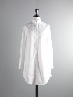 THOM BROWNE | POPLIN SHIRTDRESS White ロングスリーブシャツドレス ポプリンの商品画像