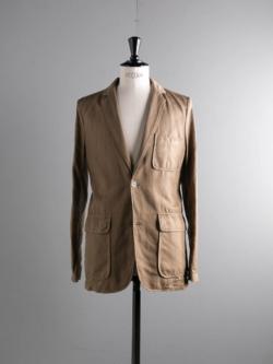 MAISON KITSUNE | OVERDYED SERGE TENZING JACKET Light Brown コットンリネンテーラードジャケットの商品画像
