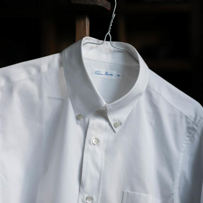 Sans LimiteのSH02ブロードボタンダウンシャツのWhiteの通販