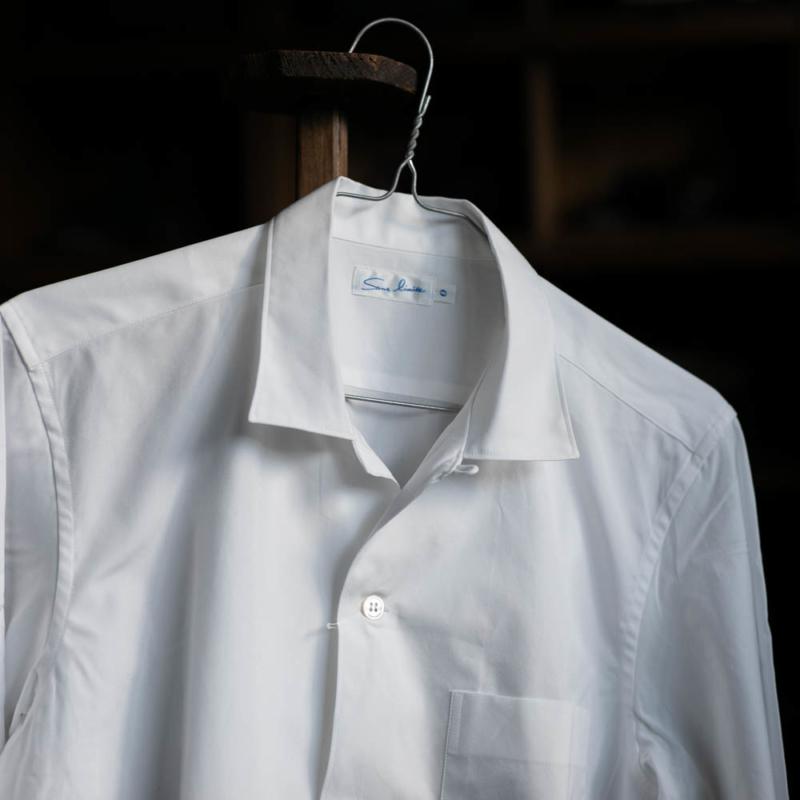 サンリミットのSH05ブロード小開襟オープンカラーシャツのwhiteの通販