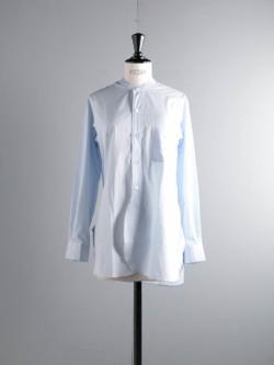Sans Limite | SH06 ALBINI Stripe ブロード長丈スタンドカラーシャツの商品画像