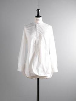 Sans Limite | SH06 S White ブロード2本針スタンドカラーシャツの商品画像