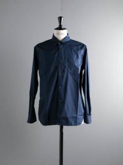 Sans Limite | SH01B-2 Navy ブロード2本針ボックスレギュラーシャツの商品画像