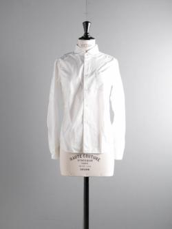 Sans Limite | W1801017 SH04 White ブロード3本針ワイドスプレッドシャツの商品画像