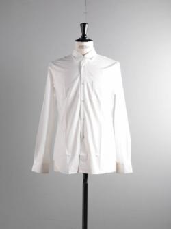 Sans Limite | W1301001 SH01 White ブロードレギュラーカラーシャツ