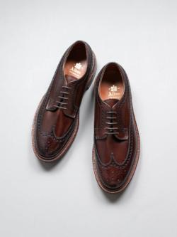 Alden | LONG WING BLUCHER【976】 Brown Calfskin ロングウィングダービーシューズの商品画像