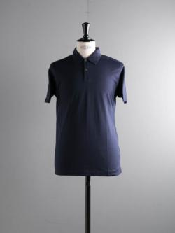 SUNSPEL | LONG-STAPLE COTTON POLO SHIRT Navy 半袖ポロシャツの商品画像