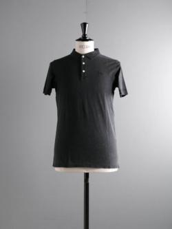MAISON KITSUNE | LIGHT PIQUE POLO Black ライトウェイトカノコポロシャツの商品画像