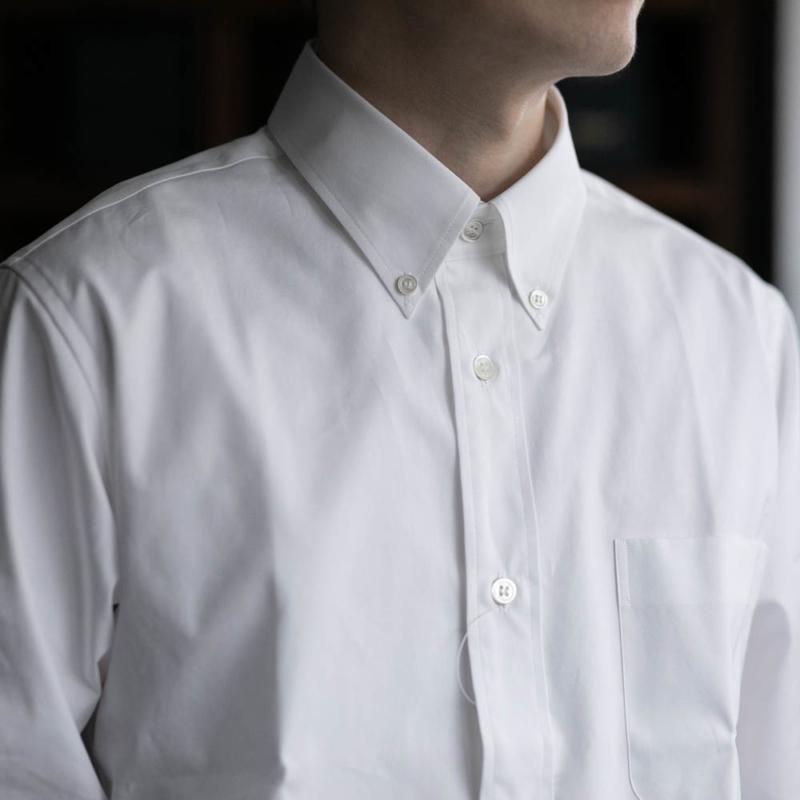 サンリミットのボタンダウンカラーブロードシャツのwhiteの通販