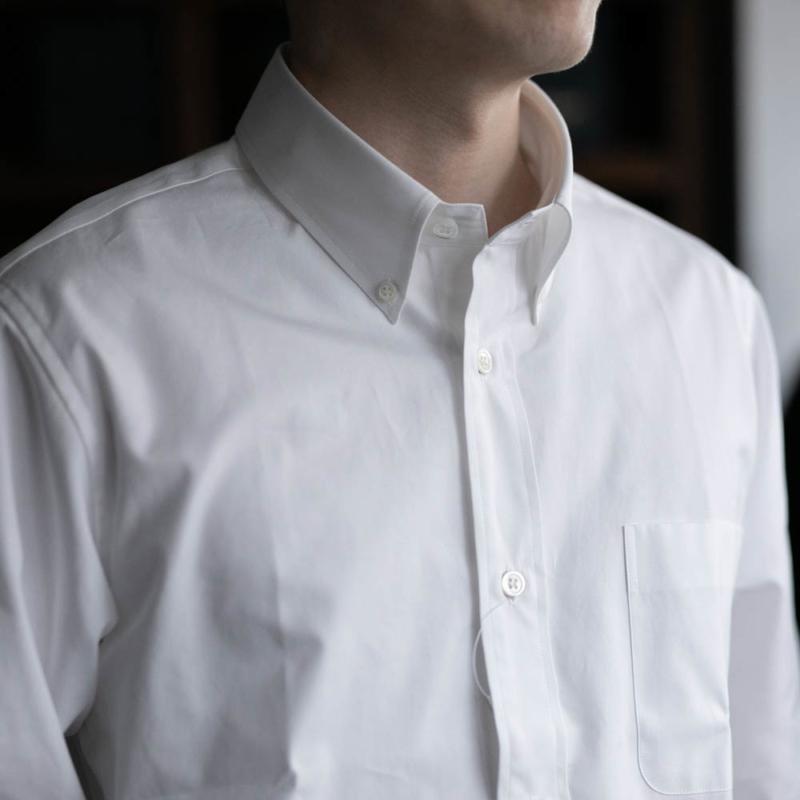 sans limiteのボタンダウンカラーブロードシャツのホワイトの通販