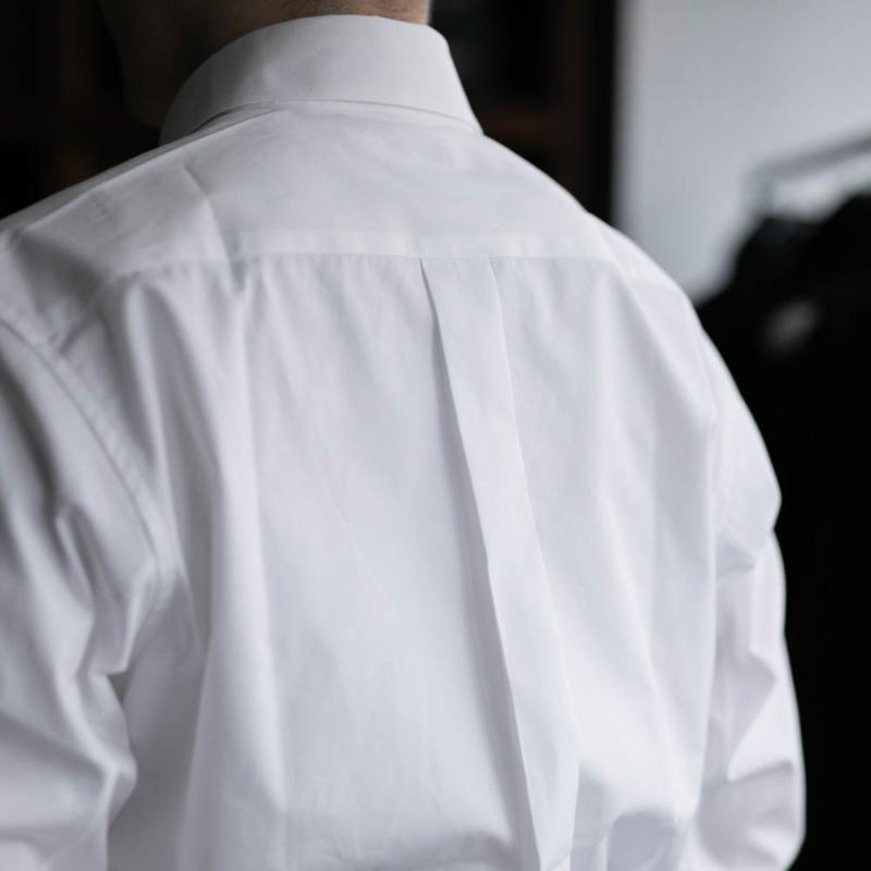 サンリミットのボタンダウンシャツのホワイトの取り扱い