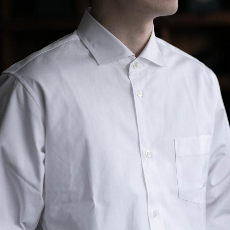 サンリミットのワイドカラーブロードシャツのwhiteの通販