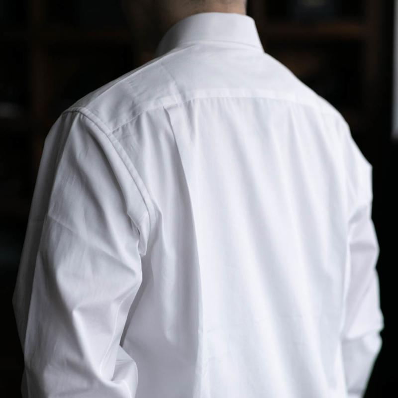サンリミットのワイドカラーブロードシャツの白色の通販