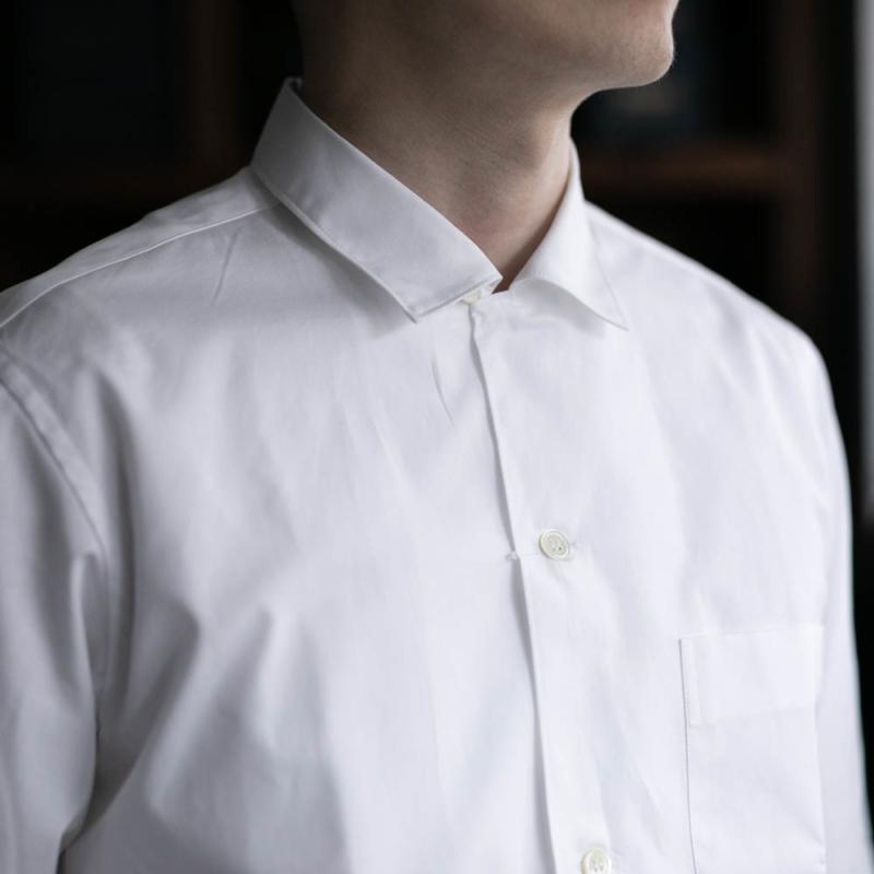 sans limiteの小開襟ブロードシャツのホワイトの通販