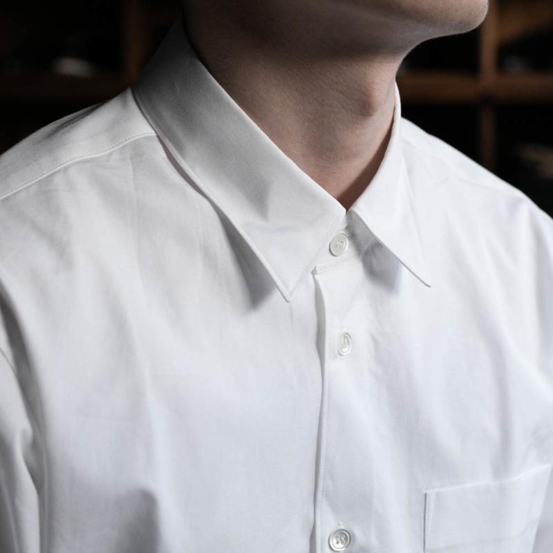 sans limiteのレギュラーカラーブロードシャツのホワイトの通販