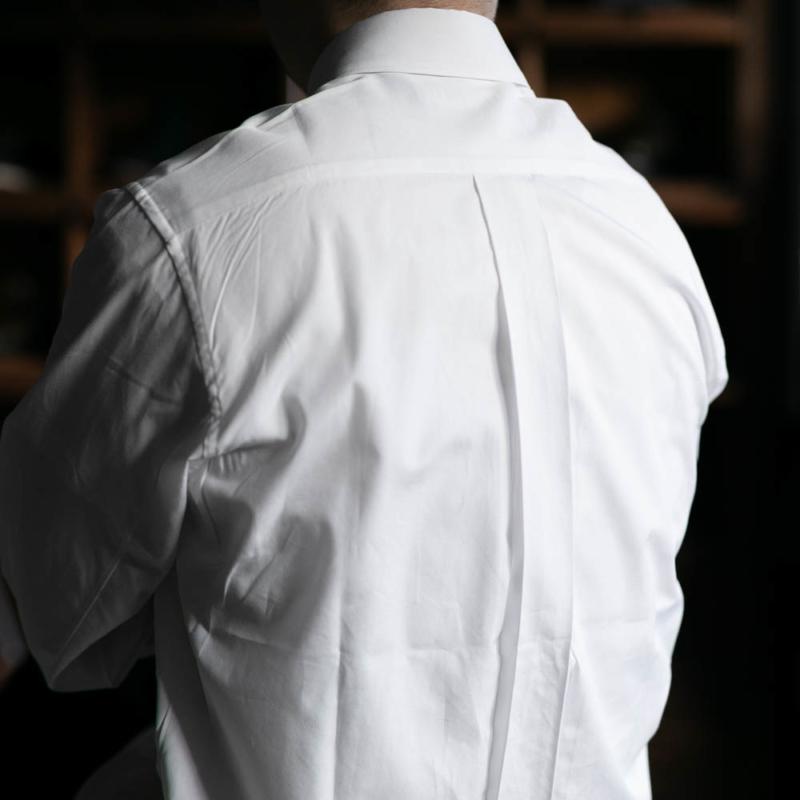 サンリミットのレギュラーカラーブロードシャツのwhiteの通販