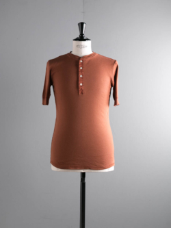 KARL-HEINZ SHORT SLEEVE HENLEY Rust Red