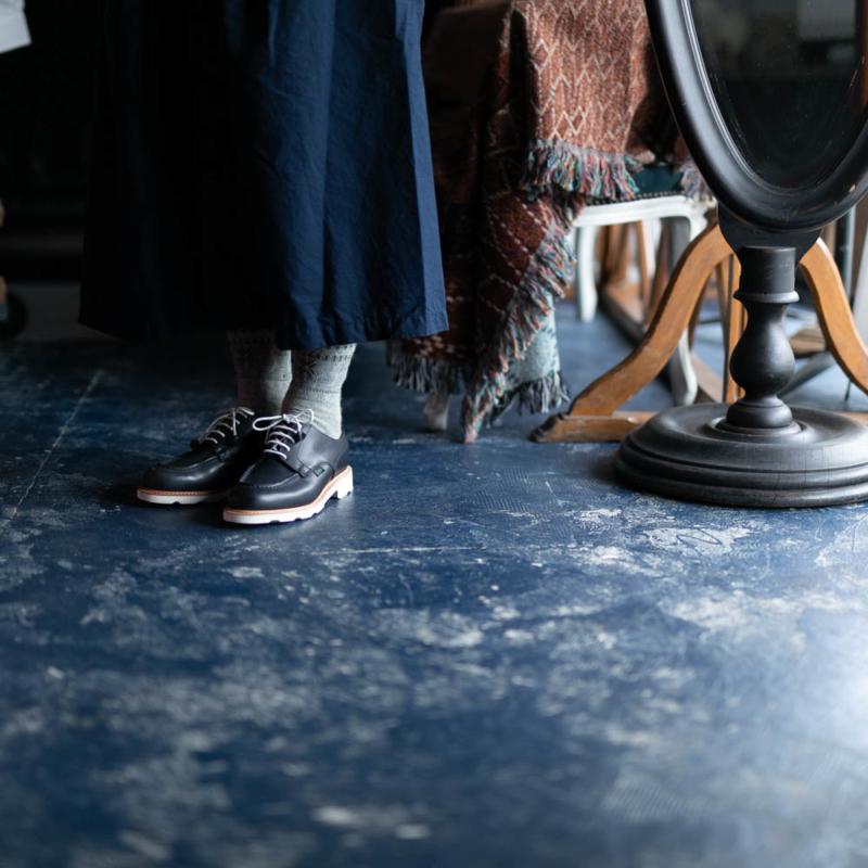 パラブーツのレディース用革靴 CHAMBORDのNavyの通販