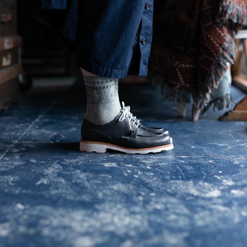 PARABOOTレディース用革靴シャンボードのネイビーの通販