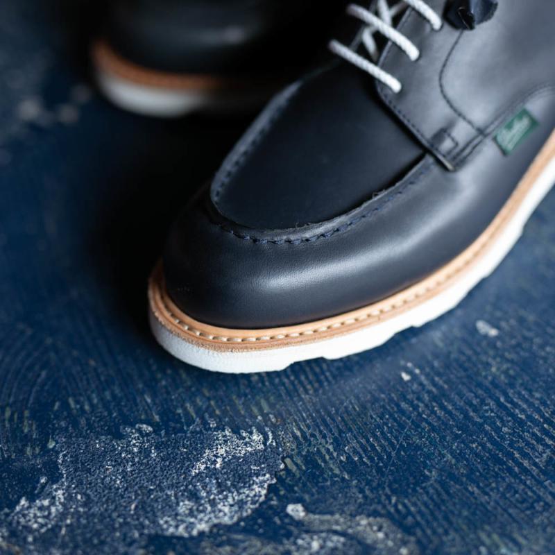 パラブーツレディース用革靴シャンボードのネイビーの通販
